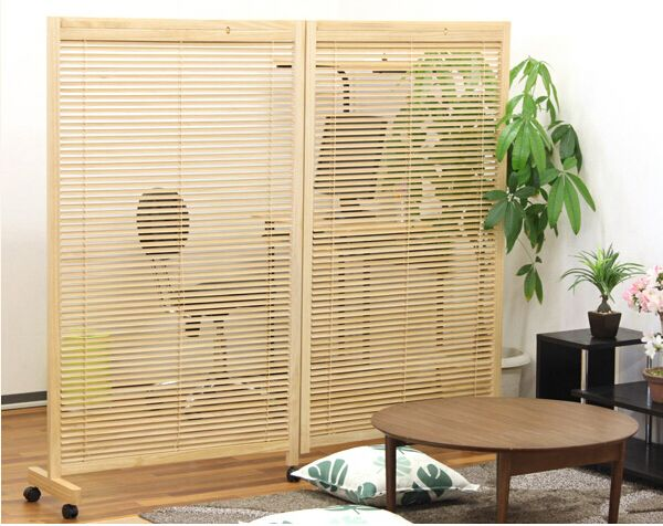 Room Divider with locking wheels