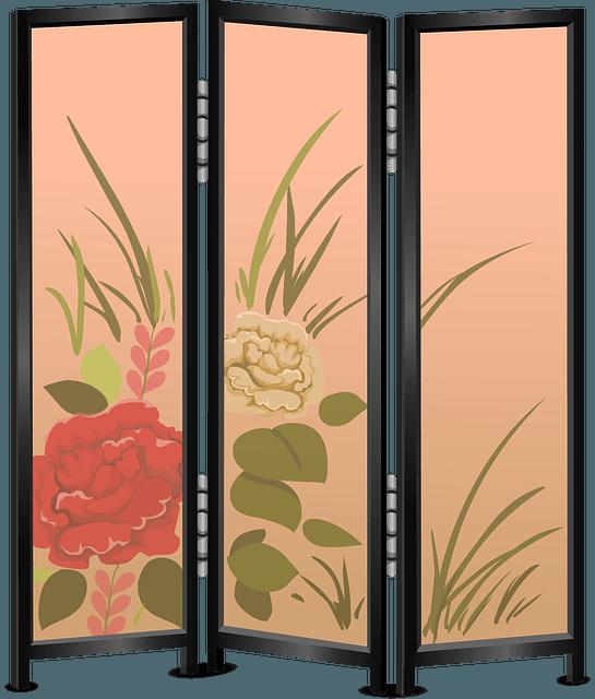 Freestanding Screen room divider