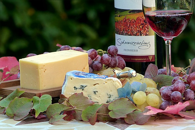 Fruits, Wine and Cheese