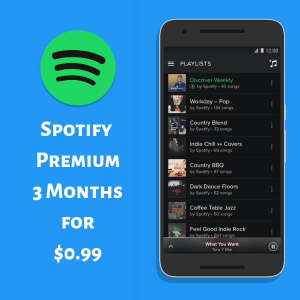 Spotify Premium 3 Months for $0.99